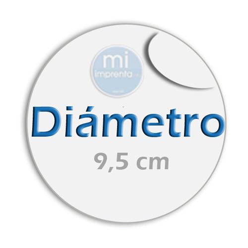 Impresión de Pegatinas Redondas 9,5 cm Diametro