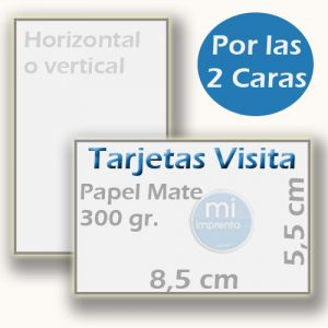 Tarjetas de Visita a 2 Caras