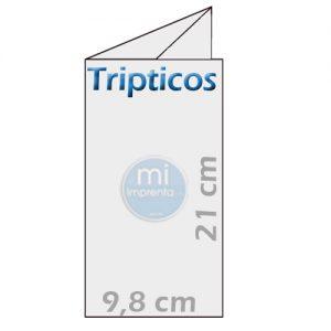 Tripticos 10x21cm plegados. Muy Económicos.