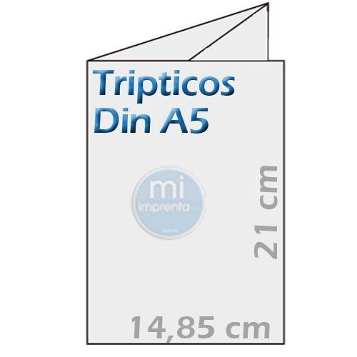 impresion tripticos din a5 plegados