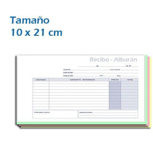 Blocks en Papel Autocopiativo 10x21 cm